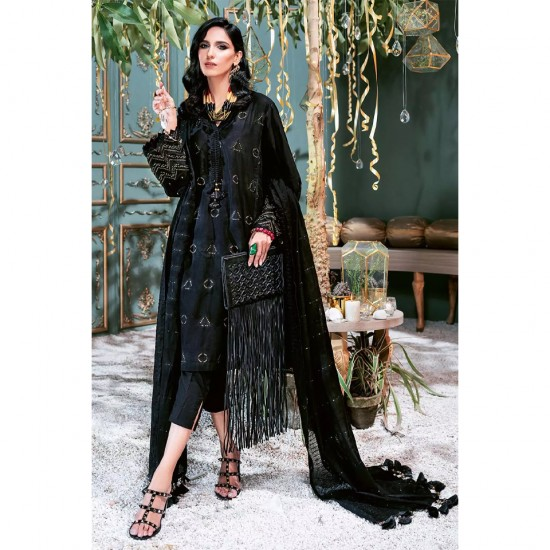 GulAhmed Luxury Embroidered Lawn Suit With Sequin Embroidered Lawn Dupatta FS-54